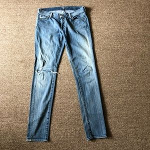 7 for all man kind blue jeans 28